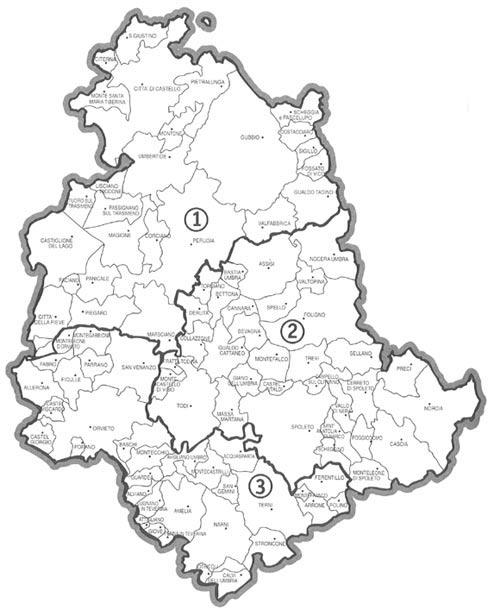 Cartina Comuni Umbria.Ambito Territoriale Di Caccia Perugia 1